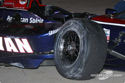 Ryan Hunter-Reay's wrecked car