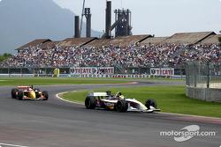 Bruno Junqueira leads Sébastien Bourdais