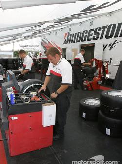 Bridgestone crew members at work
