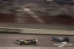 Bruno Junqueira and Patrick Carpentier fight for first