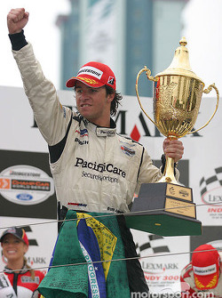 Podium: race winner Bruno Junqueira celebrates
