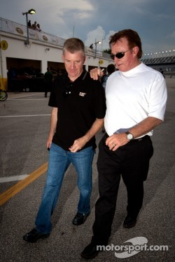 Jeff Burton, Richard Childress Racing Chevrolet with Richard Childress