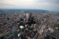 Toronto viewed from the CN Tower Sky Pod