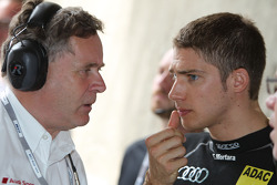 Dirk Theimann, Teammanager Phoenix Racing and Edoardo Mortara, Audi Sport Team Rosberg, Audi A4 DTM