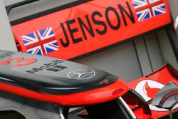 Jenson Button, McLaren Mercedes nose cone