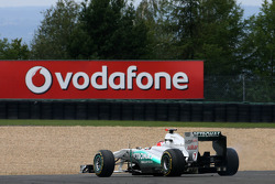 Michael Schumacher, Mercedes GP goes off the track