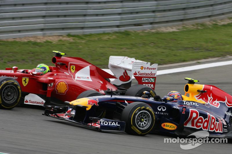 Felipe Massa, Scuderia Ferrari y Mark Webber, Red Bull Racing
