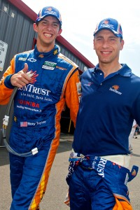Pole winner Ricky Taylor with Max Angelelli