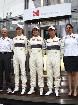 Alineación de pilotos 2011 para Sauber: Esteban Gutiérrez, Sauber F1 Team con Sergio Pérez, Sauber F