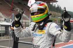 Race winner Roberto Merhi
