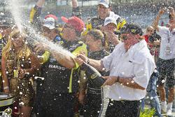 Victory lane: Richard Childress celebrates