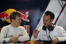 Mattias Ekström, Audi Sport Team Abt Audi A4 DTM with his engineer Alex Stehlig Audi Team Abt Sportsline