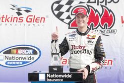Victory lane: race winner Kurt Busch