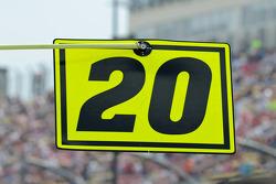 Joey Logano's pit sign