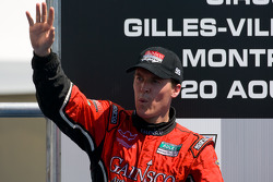 DP podium: race winner Alex Gurney