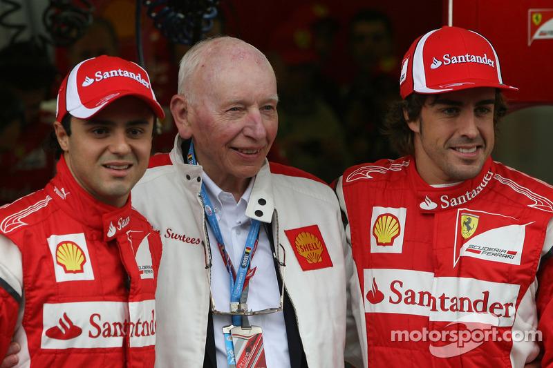 С Фелипе Массой и Фернандо Алонсо, Гран При Бельгии 2011