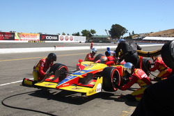 Pit stop for Sebastian Saavedra, Conquest Racing