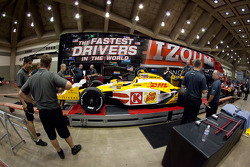 Car of Ryan Hunter-Reay, Andretti Autosport at tech inspection