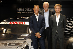 The new 2012 DTM AMG Mercedes C-Coupé with Michael Schumacher, Dr. Dieter Zetsche (Chairman of Merce