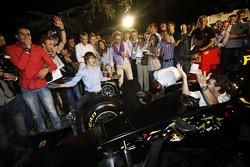 Jules Bianchi and Esteban Gutierrez on the Pirelli simulator
