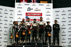 LMP2 Podium: 1st place: #41 Greaves Motorsport Zytek Z11SN - Nissan: Karim Ojjeh, Tom Kimber-Smith, Olivier Lombard, 2nd place: #40 Race Performance Oreca 03 - Judd: Michel Frey, Ralph Meichtry, Marc Rostan , 3rd place: #45 Boutsen Energy Racing Oreca 03-