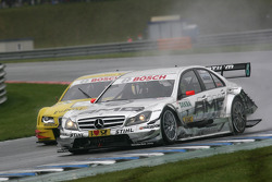 Jamie Green, Team HWA, AMG Mercedes C-Klasse and Mike Rockenfeller, Audi Sport Team Abt Audi A4 DTM