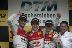 Второе место - Мартин Томчик, Audi Sport Team Phoenix Audi A4 DTM, первое место - Маттиас Экстрем, Audi Sport Team Abt Audi A4 DTM, третье место - Эдоардо Мортара, Audi Sport Team Rosberg, Audi A4 DTM