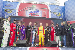The twelve chase drivers pose for a photo