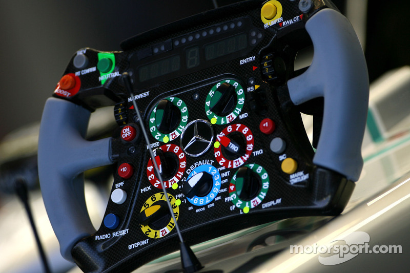 Steering of the Mercedes GP