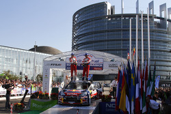 Podium: Sébastien Ogier and Julien Ingrassia, Citroën DS3 WRC, Citroën Total World Rally Team