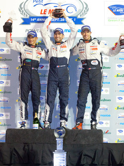 P1 podium: class and overall winners Franck Montagny, Stéphane Sarrazin and Alexander Wurz