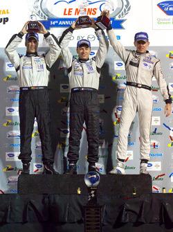 P2 podium: class winners Scott Tucker, Christophe Bouchut and Joao Barbosa
