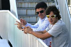 Fernando Alonso, Scuderia Ferrari with his manager