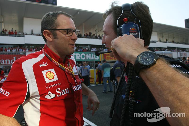 Stefano Domenicali, Scuderia Ferrari Sporting Director and Christian Horner, Red Bull Racing, Sporting Director