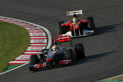 Lewis Hamilton, McLaren Mercedes and Michael Schumacher, Mercedes GP