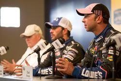 Post-race press conference: race winner Jimmie Johnson, Hendrick Motorsports Chevrolet with Rick Hendrick and Chad Knaus