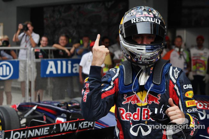 pole man Sebastian Vettel, Red Bull Racing