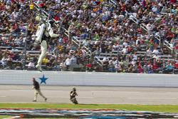 Jet pack flying man
