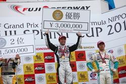 Podium: race winner Joao Paulo de Oliveira