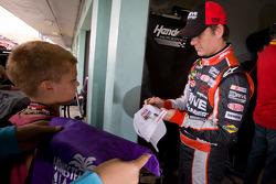 Jeff Gordon, Hendrick Motorsports Chevrolet signs an autograph
