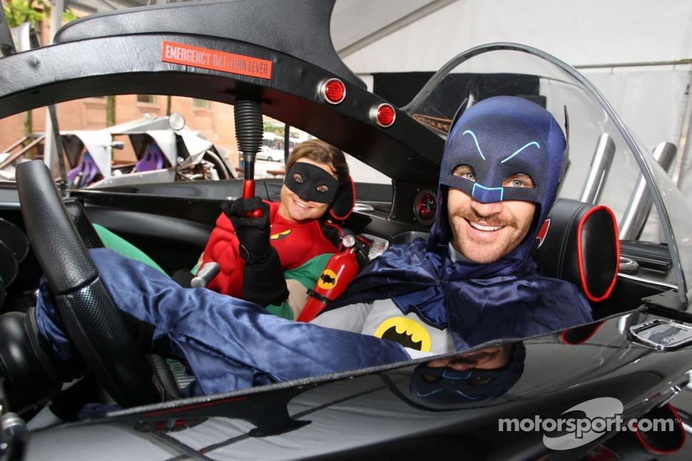 Will Davison and Tim Slade dress as Batman and Robin