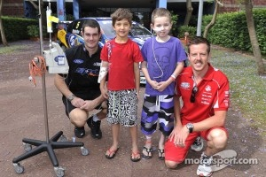 Shane Van Gisbergen and James Courtney visit the Children's Hospital at Westmead