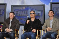 Dale Earnhardt Jr., Kevin Harvick, Denny Hamlin
