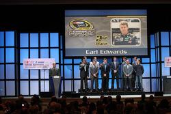 Carl Edwards, Kevin Harvick, Matt Kenseth, Brad Keselowski, Jimmie Johnson, Dale Earnhardt Jr., Jeff Gordon, Denny Hamlin, Ryan Newman, Kyle Busch and Kurt Busch