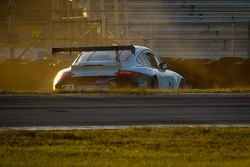 #64 TRG Porsche GT3: Patricio Bornand, Eduardo Costabal, Mike Hedlund, Eliseo Salazar in the tire wall