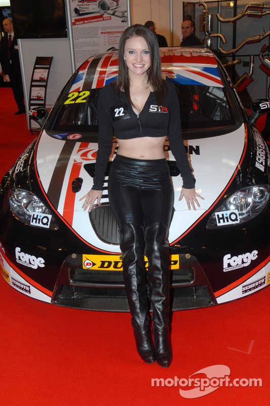 Special Tuning Racing Promo Girl at Autosport International Show, Birmingham NEC