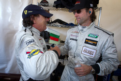Brian Johnson with Jim Pace after his last stint