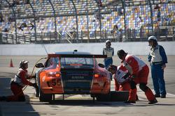Pit stop for #55 Acumen Motorsport Porsche GT3: Frank Del Vecchio, Doug Grunnet, Scott McKee
