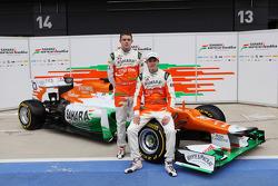 Пол ди Реста и Нико Хюлькенберг. Презентация Sahara Force India VJM05, Презентация.
