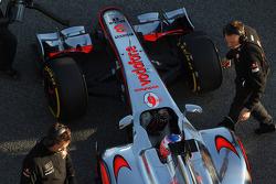 Jenson Button, McLaren Mercedes rear wing